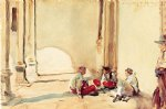 spanish art - a spanish barracks by john singer sargent