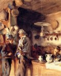 spanish art - a spanish interior by john singer sargent