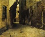 john singer sargent a street in venice ii painting