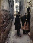 john singer sargent a street in venice painting
