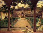 john singer sargent acrylic paintings - at torre galli ladies in a garden by john singer sargent