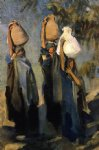 women acrylic paintings - bedouin women carrying water jars by john singer sargent