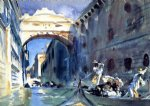 john singer sargent watercolor paintings - bridge of sighs by john singer sargent