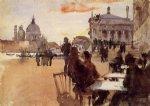 john singer sargent acrylic paintings - cafe on the riva degli schiavoni by john singer sargent