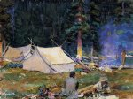 john singer sargent acrylic paintings - camping at lake o hara by john singer sargent