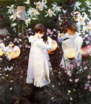 rose famous paintings - carnation lily lily rose by john singer sargent