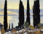 john singer sargent cypress trees at san vigilio painting 30341