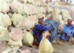 egyptian watercolor paintings - egyptian water jars by john singer sargent