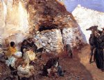 john singer sargent acrylic paintings - gypsy encampment by john singer sargent