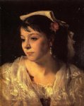 italian artwork - head of an italian woman by john singer sargent