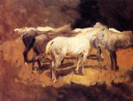 john singer sargent horses at palma paintings 30458