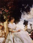 john singer sargent in the garden corfu painting