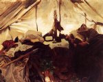 john singer sargent inside a tent in the canadian rockies painting 30477