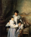 owl watercolor paintings - mrs. arthur knowles and her two sons by john singer sargent