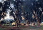john singer sargent olive trees at corfu painting-30650