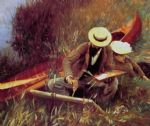 john singer sargent paul helleu sketching with his wife painting
