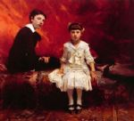 portrait acrylic paintings - portrait of edouard and marie loise pailleron by john singer sargent