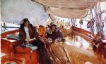 john singer sargent rainy day on the deck of the yacht constellation art