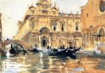 rio dei mendicanti by john singer sargent painting