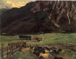 sheepfold in the tirol by john singer sargent painting