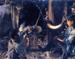 john singer sargent acrylic paintings - shoeing the ox by john singer sargent
