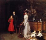 john singer sargent acrylic paintings - sir george sitwell lady ida sitwell and family by john singer sargent
