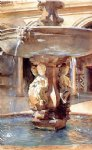 spanish art - spanish fountain ii by john singer sargent