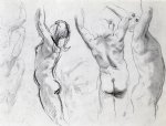 john singer sargent original paintings - studies of a nude youth by john singer sargent