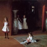 john singer sargent acrylic paintings - the daughters of edward darley boit by john singer sargent