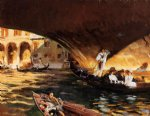 john singer sargent the rialto ii painting