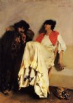 the sulphur match by john singer sargent painting