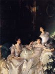 john singer sargent acrylic paintings - the wyndham sisters by john singer sargent