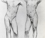 torsos of two male nudes by john singer sargent art