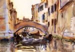 venetian canal by john singer sargent painting