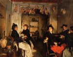 john singer sargent acrylic paintings - venetian wineshop by john singer sargent