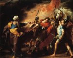 john singleton copley saul reproved by samuel for not obeying the commandments of the lord painting