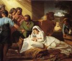 framed acrylic paintings - the nativity by john singleton copley