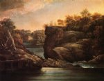 john trumbull acrylic paintings - norwich falls by john trumbull