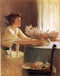 john white alexander art - a meadow flower by john white alexander