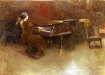john white alexander art - at the piano by john white alexander