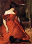 john white alexander art - black and red by john white alexander