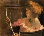 john white alexander jesse steele reading painting