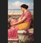 john william godward watercolor paintings - absence makes the heart grow fonder by john william godward