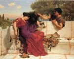 the old old story by john william godward painting