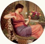the time of roses by john william godward painting