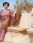 tranquillity right by john william godward painting