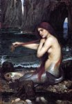 john william waterhouse a mermaid painting