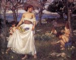 john william waterhouse a song of springtime paintings