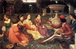 water oil paintings - a tale from the decameron by john william waterhouse
