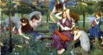 john william waterhouse flora and the zephyrs painting-29966